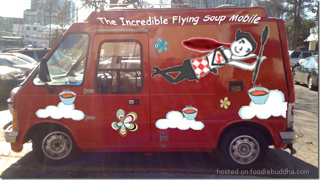 the incredible flying soup mobile