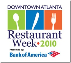 downtown atlanta restaurant week 2010 logo