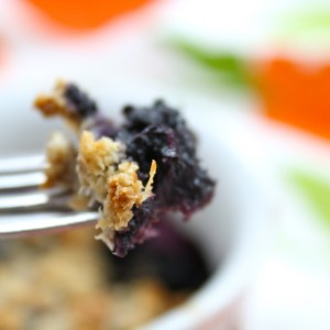 """All for One"" Low Carb Blueberry Cobbler"
