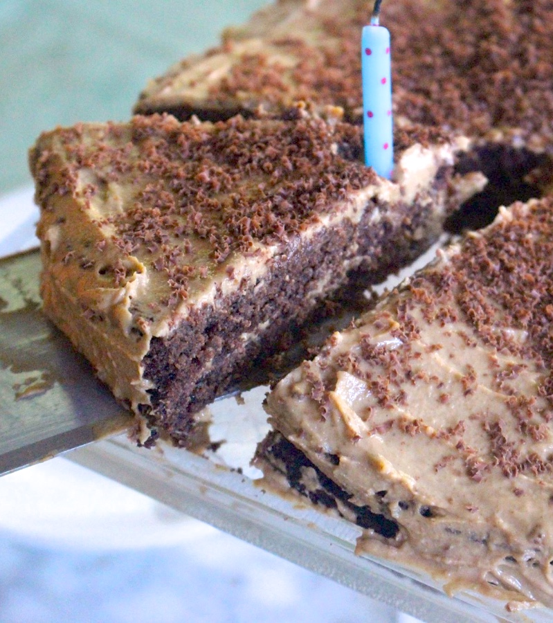 Chocolate Almond Flour Cake With Peanut Butter Frosting
