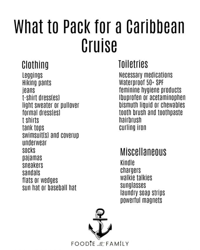 What to Pack for a Caribbean Cruise Vacation - Foodie With Family