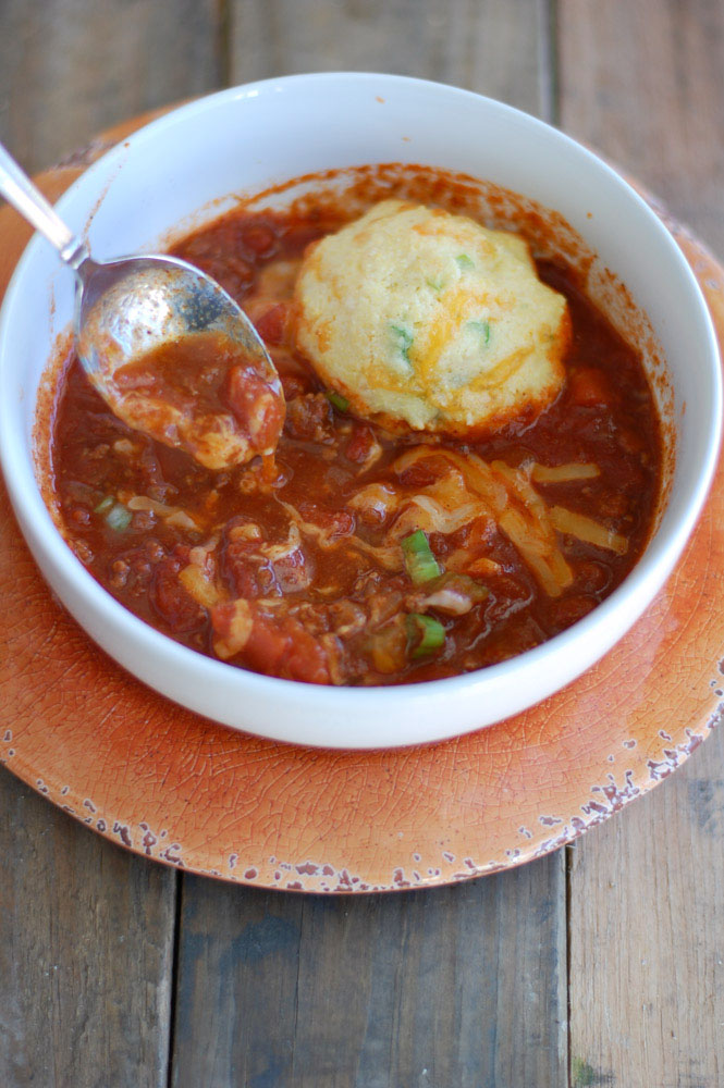 The best chili and cornbread biscuits - Food Lovin Family