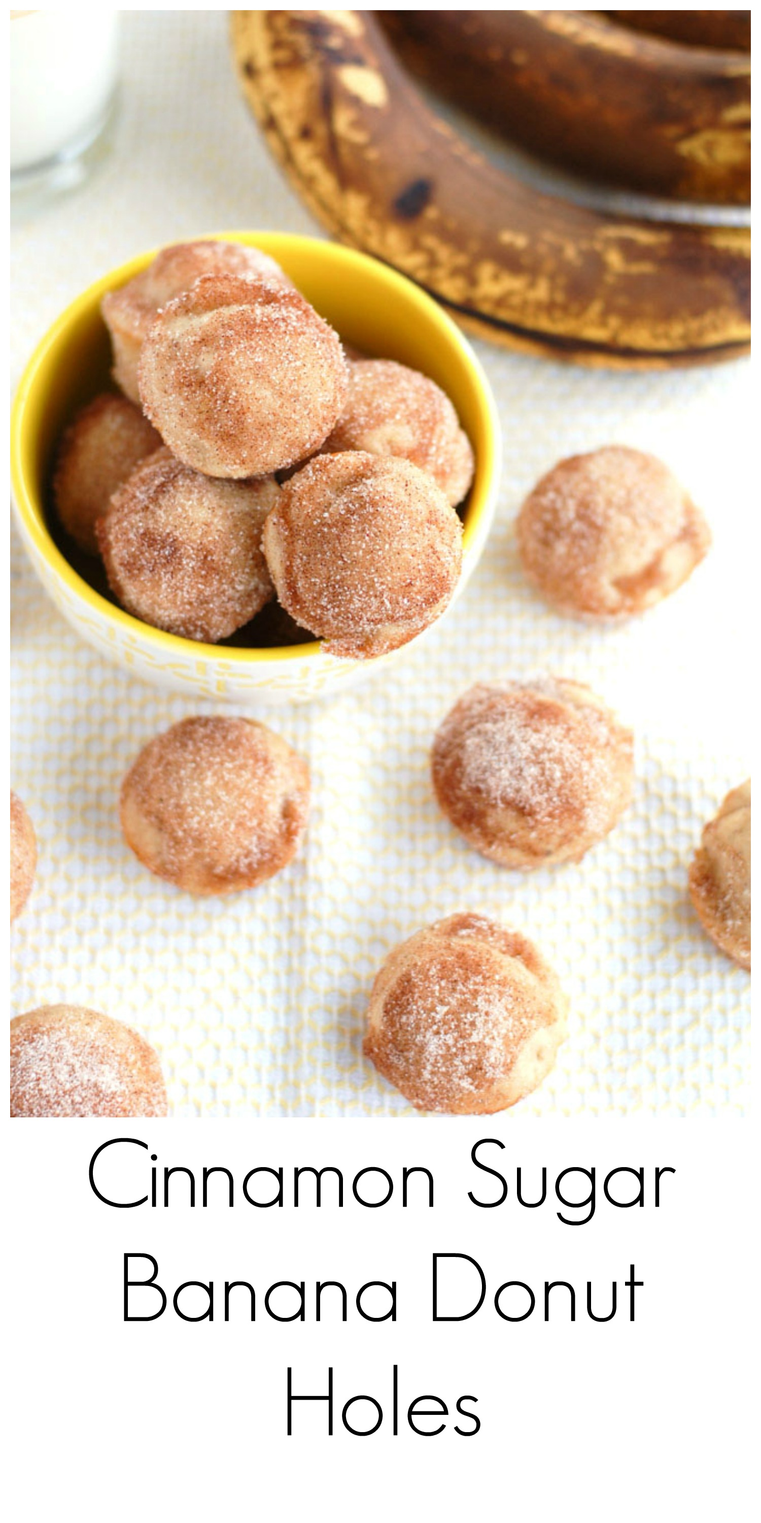 Cinnamon Sugar Banana Donut Holes - Food Lovin Family