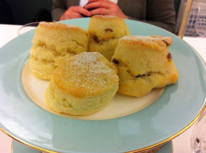 Scones at Fortnum and Mason Afternoon Tea
