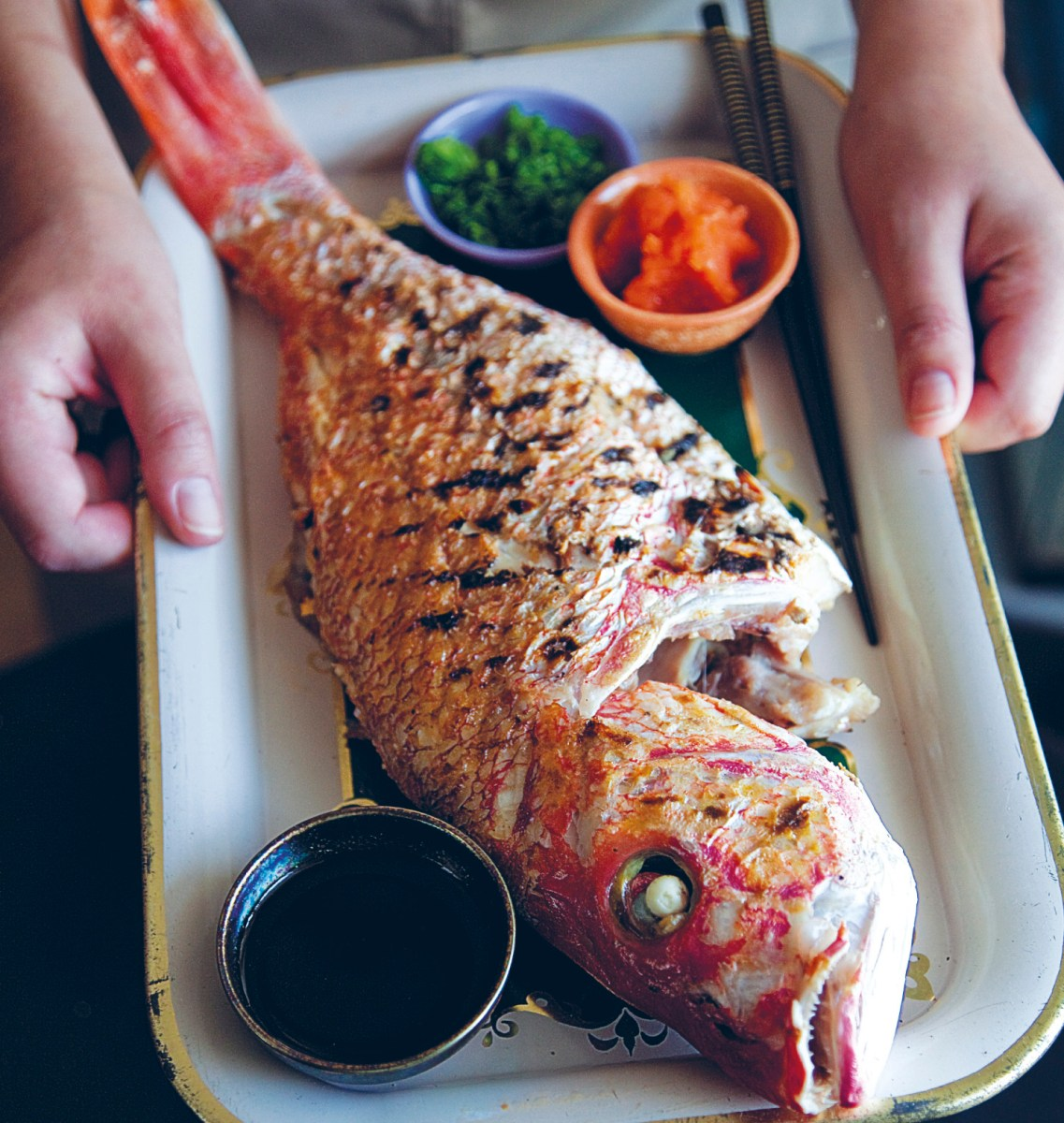 Whole Red Snapper with Ponzu Recipe | Food Republic