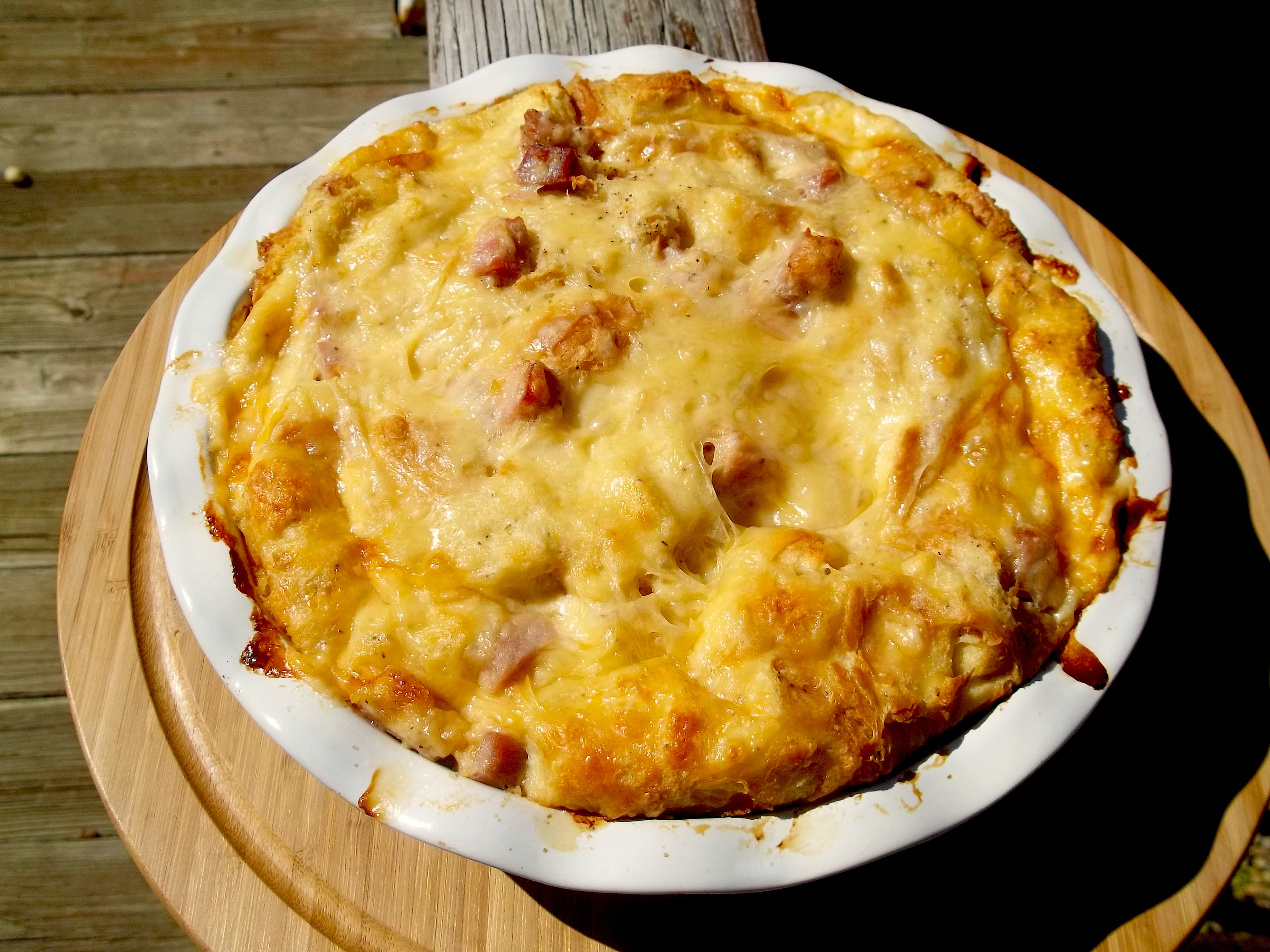 ham and cheese strata recipe food republic - Cheese Strata Recipes Brunch