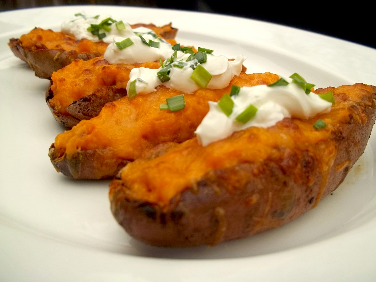 Sweet Potato Skins With Bacon Recipe | Food Republic