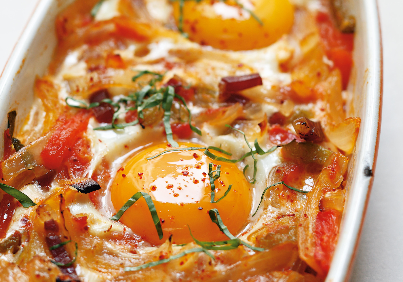 Basque style baked eggs recipe food republic forumfinder Choice Image
