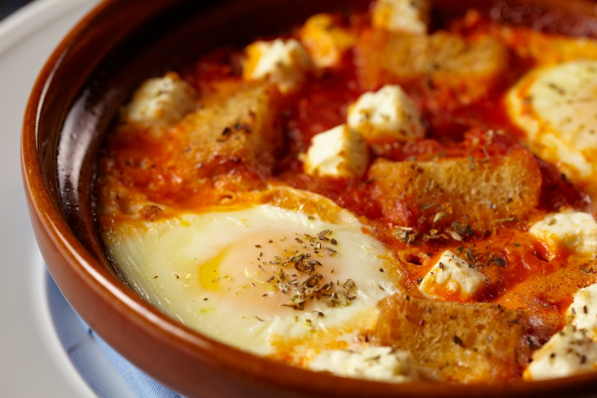 Baked Eggs With Tomato And Feta Recipe – Food Republic
