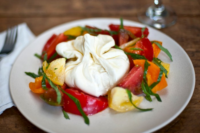 Heirloom Caprese Salad with Burrata Recipe   Food Republic