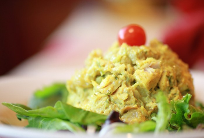 Curried chicken salad with greek yogurt recipe food republic article featured image forumfinder Choice Image