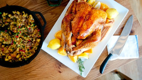 This sweet brined bird will vanish from the table in no time.
