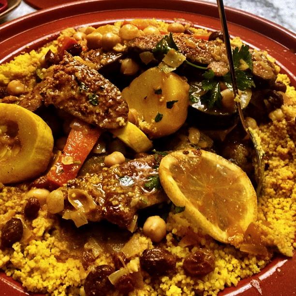Moroccan merguez and vegetable tagine recipe food republic - Moroccan cuisine recipes ...
