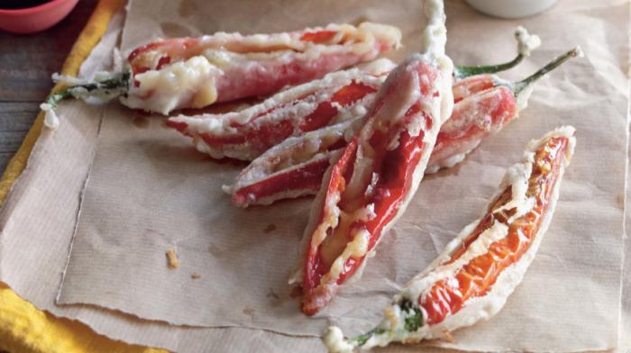 Tempura Cheese-Stuffed Chillies Recipe