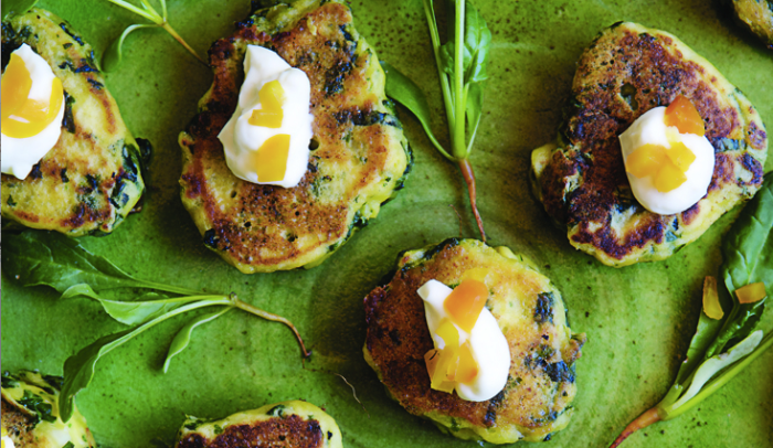 Don't let their size fool you; these veggie cakes are mighty satisfying.