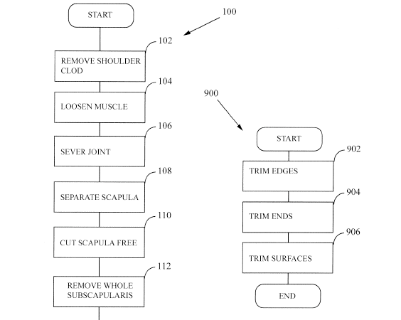 A diagram from the patent application details the extraction process.