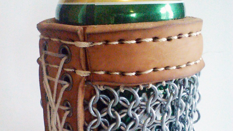 Drink To Game Of Thrones With A Leather Chainmail Beer Koozie