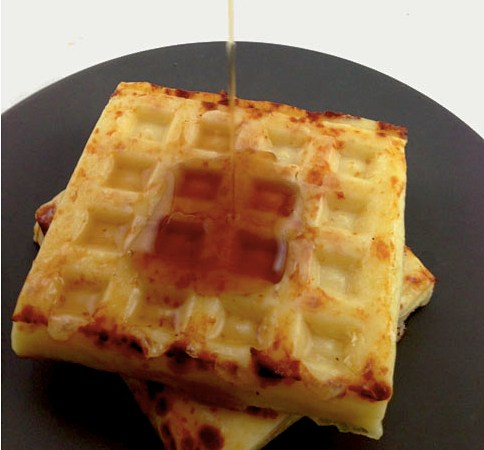 This Waffle Is Made Of Cheese. Syrup Called. It Doesn't Know What To Do.