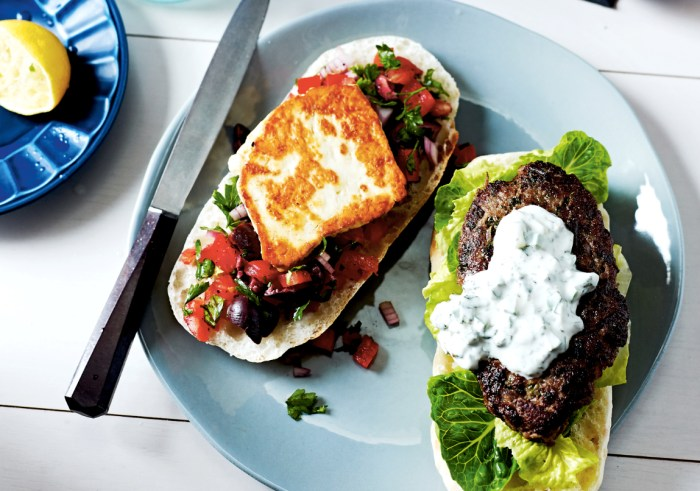 One bite of these burgers and you'll be transported to the Mediterranean. (Photo: Lisa Cohen.)