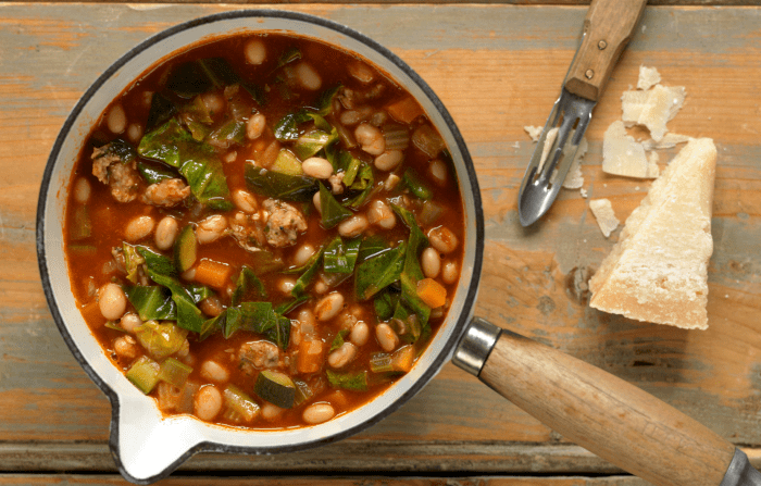 Rustic Tuscan Bean And Sausage Soup Recipe
