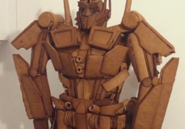 We're in awe of this gingerbread rendition of Optimus Prime.