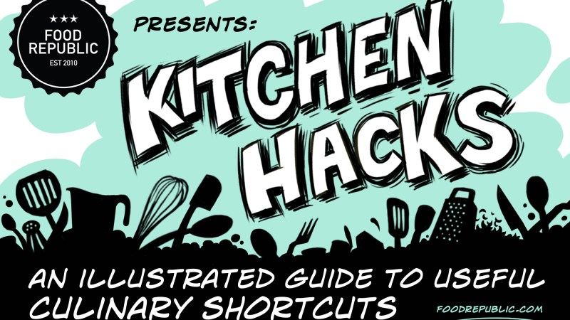 Illustrated Kitchen Hacks: How To Keep Cheese From Sticking To The Grater