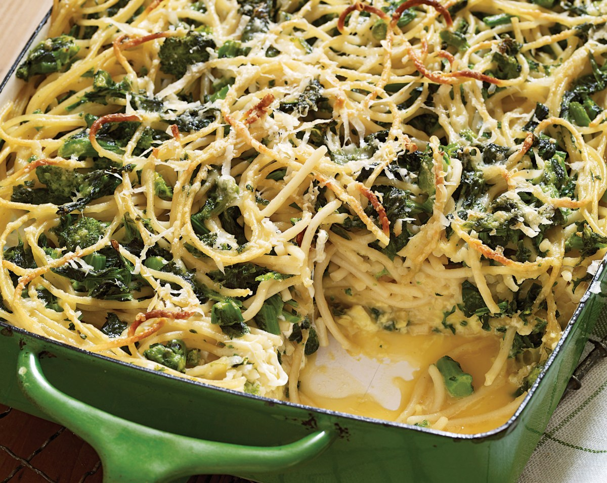 Baked Spaghetti Frittata With Broccoli Rabe And Smoked Mozzarella ...
