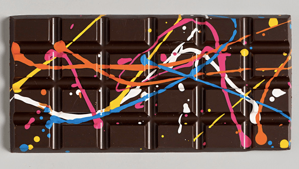 Chocolate Bars Inspired By Jackson Pollock, Maybe An Acid Trip