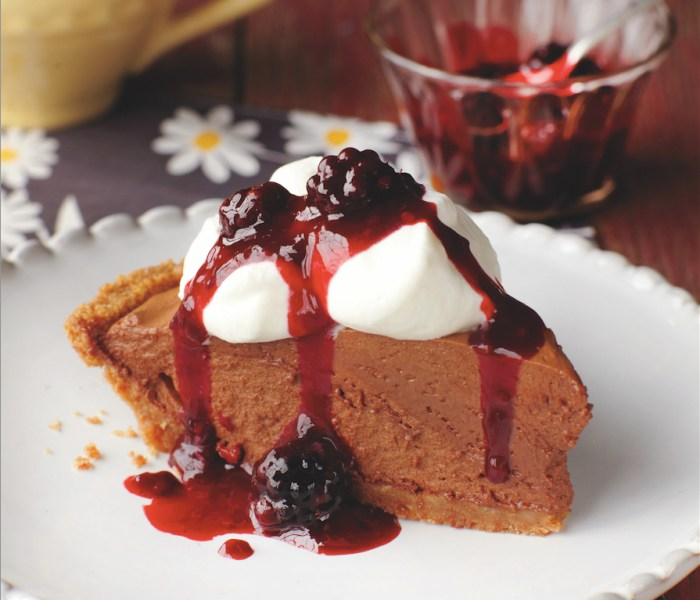 Espresso French Silk Pie With Blackberry Compote Recipe