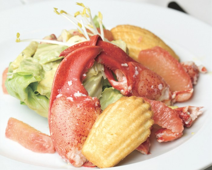 Serve lobster salad dressed with herbed vinaigrette and aromatic madeleines for an elegant lunch.