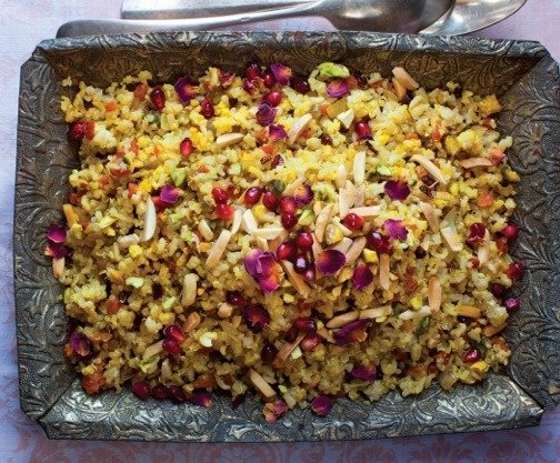 Persian food primer 10 essential iranian dishes food republic a traditional wedding staple jeweled rice photo sara remington the new persian kitchen forumfinder Image collections