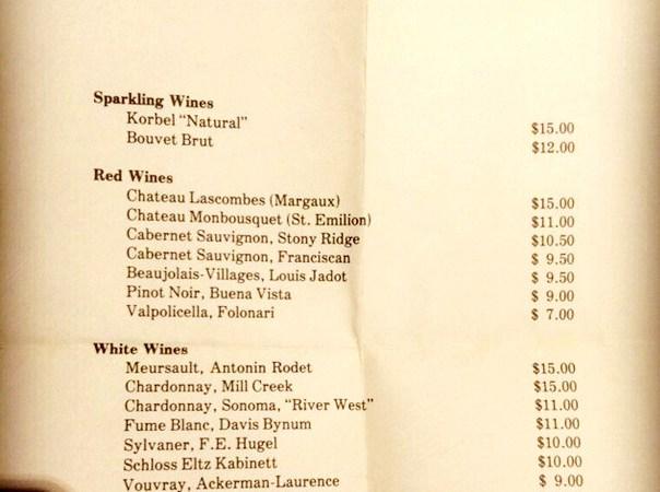 1977 Wine List Reveals That Restaurants Made Waaaaaaay Less Money On Wine In 1977