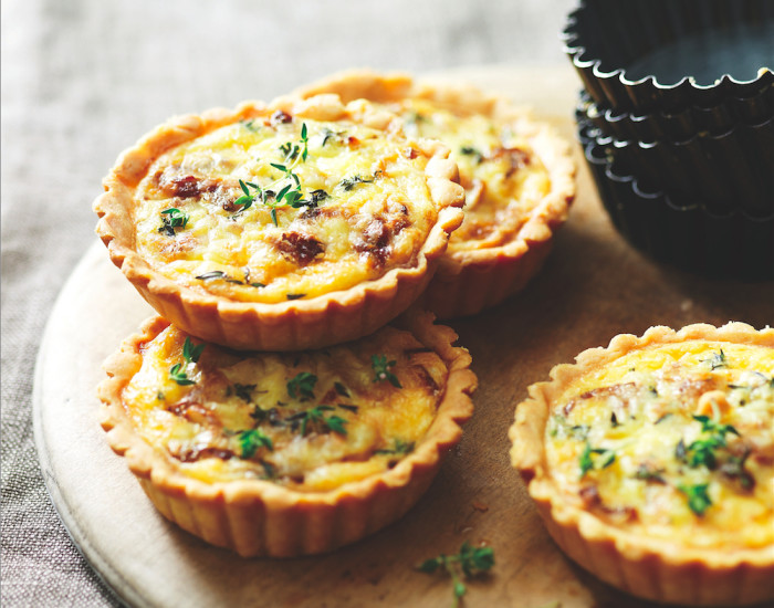 Smoked Cheddar And Onion Tarts Recipe