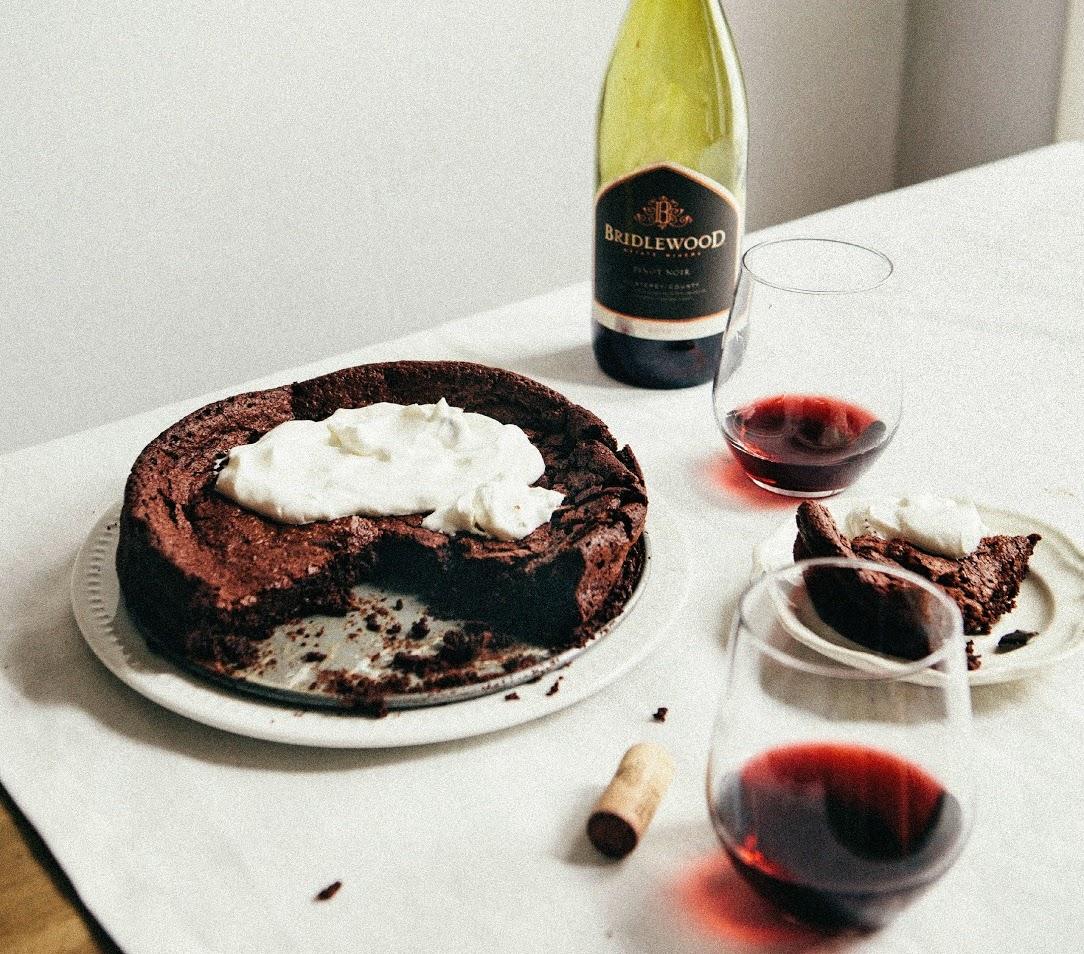 Gluten Free Red Wine Chocolate Cake