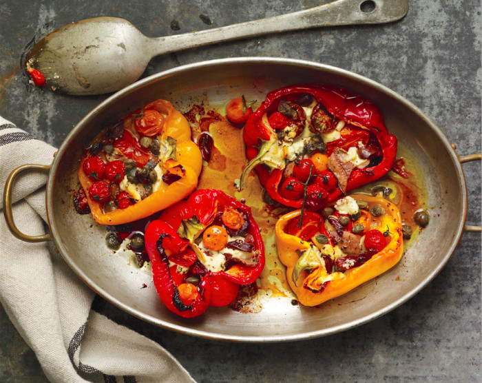 Add a punch of umami to these peppers with some anchovies. (Photo: Penny De Los Santos.)