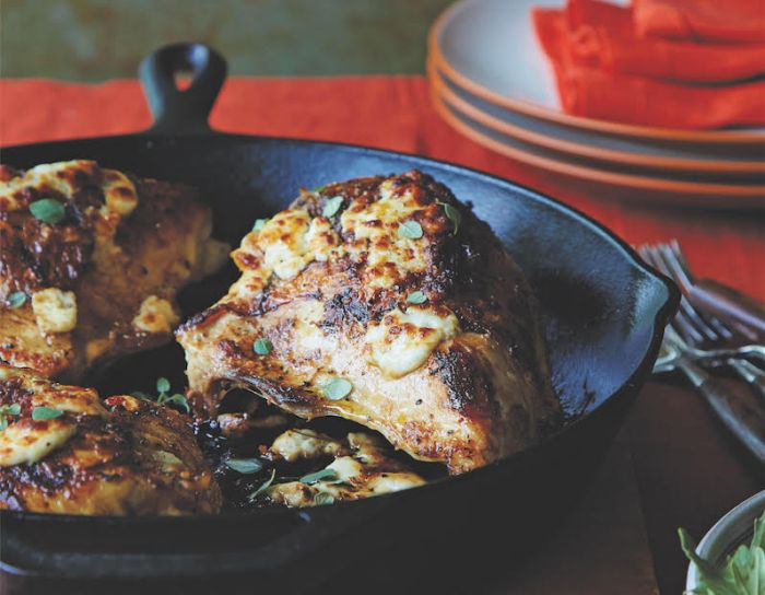 Lemon-Oregano Roasted Chicken With Broiled Feta - Food ...