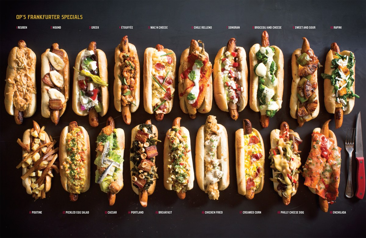 Different Hot Dog Combinations