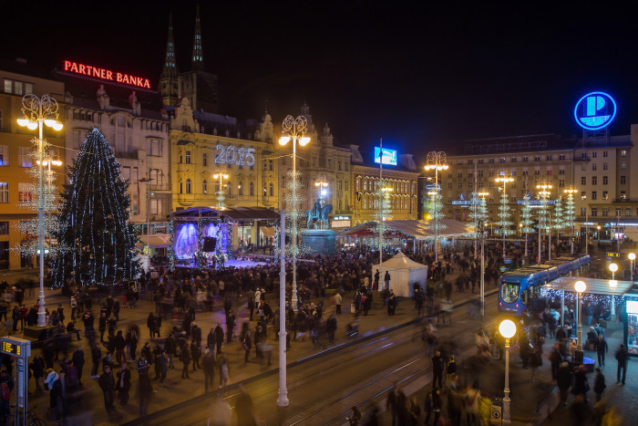 Zagreb's main square of Ban Josip Jelačić is the central hub of Advent activities. (Photo credit: The Zagreb Tourist Board and Igor Nobilo)
