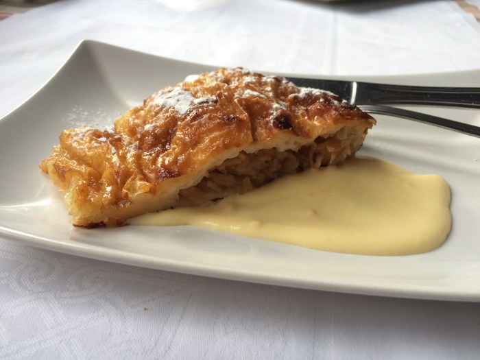 Štrudla od Jabuka is delicate, flaky and filled with apples, but not too sweet. (Photo credit: Katie Chang)