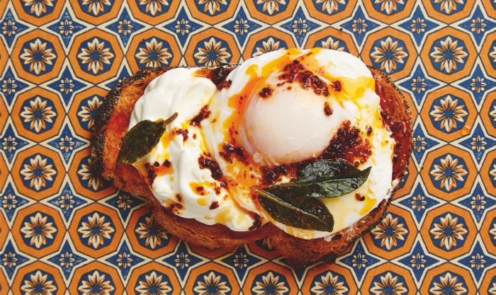 Love poached eggs? Poach 'em Turkish style and display your posh toast for all to see.