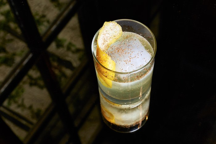 The English Milk Punch might be missing something if grated nutmeg and lemon oil is absent.