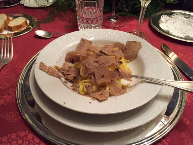 Fettucine with Shaved Black Truffles