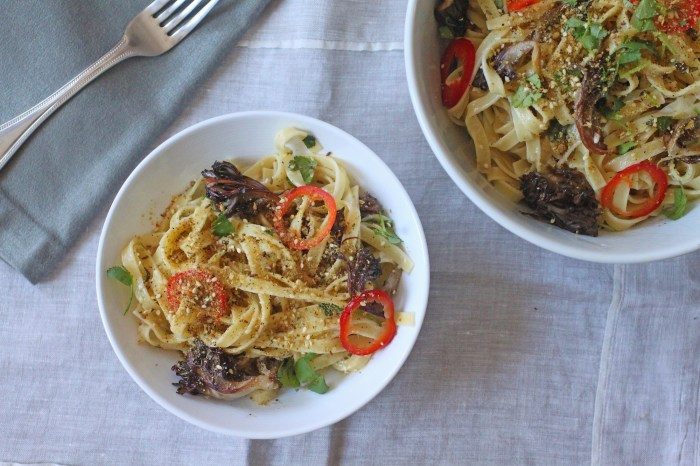 ... With Maitake Mushrooms And Pickled Chilies – Food Republic