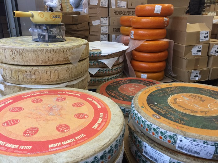 Over 400 varieties are available in the cheese pavillon. (Photo credit: Katie Chang)