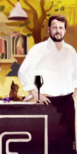 illustration of Feitoria chef João Rodrigues