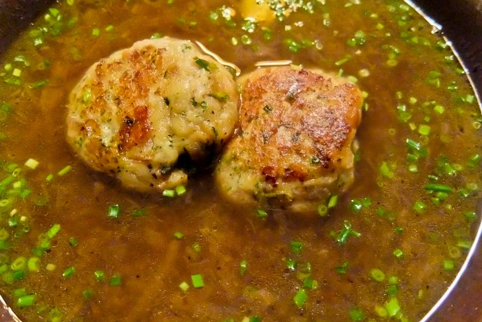 Walserstuba Onion Broth with Dumplings