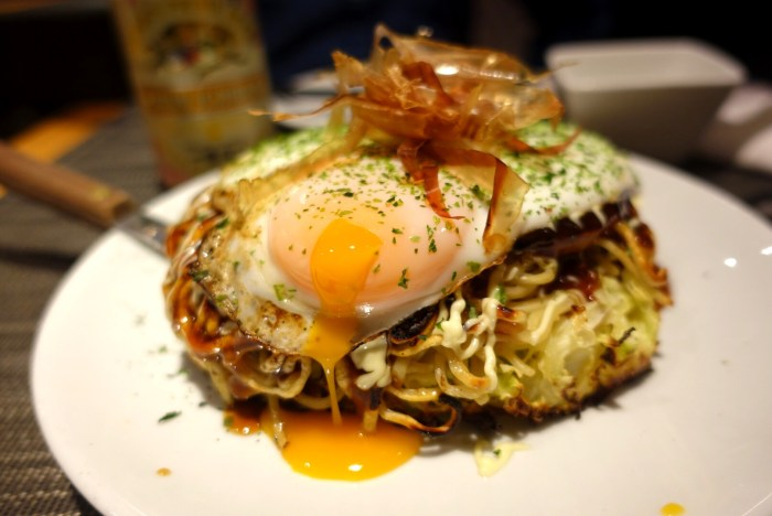If you're looking for Osakan cuisine, head to Happa Tei for okonomiyaki, tako yaki and more.