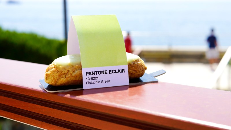 Pistachio éclairs never looked so chic. (Photos courtesy of Pantone.)