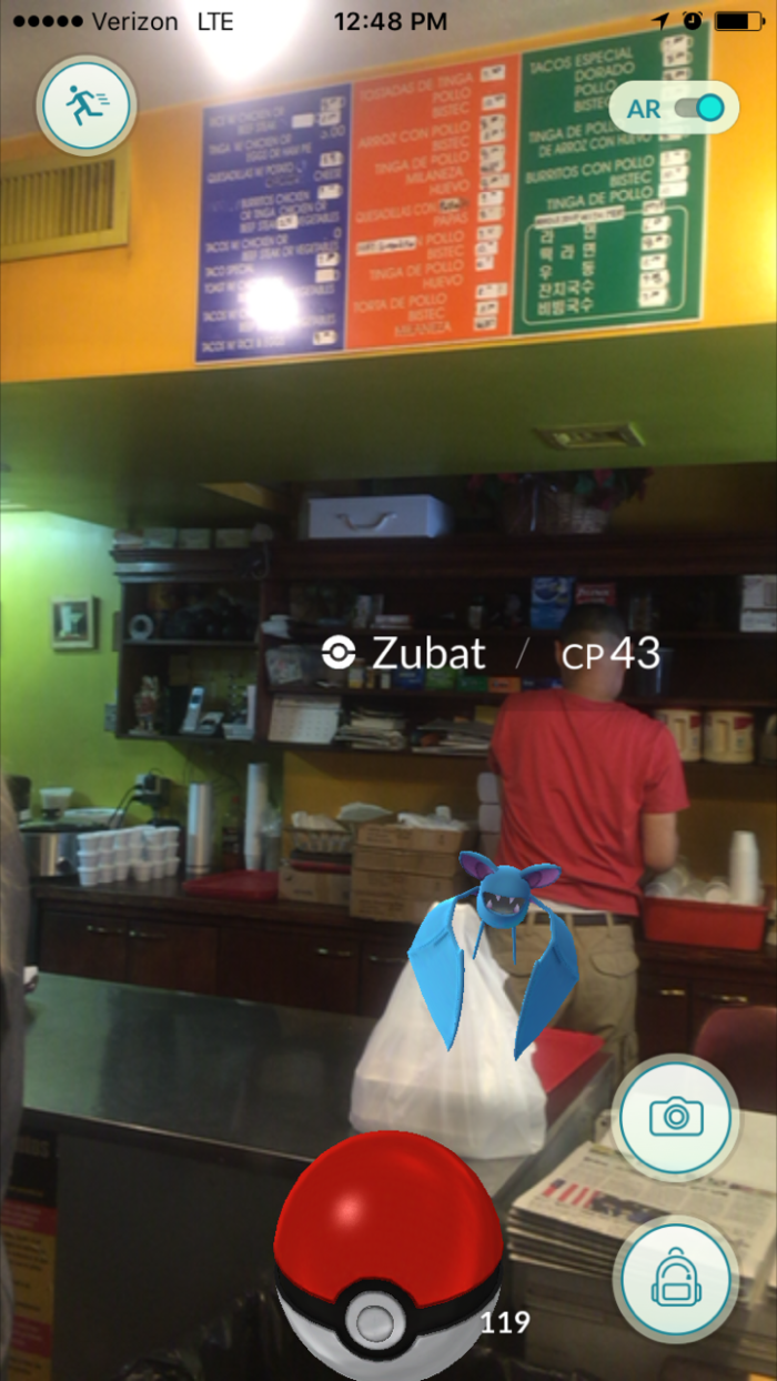 Zubat spotted at New York Bakery