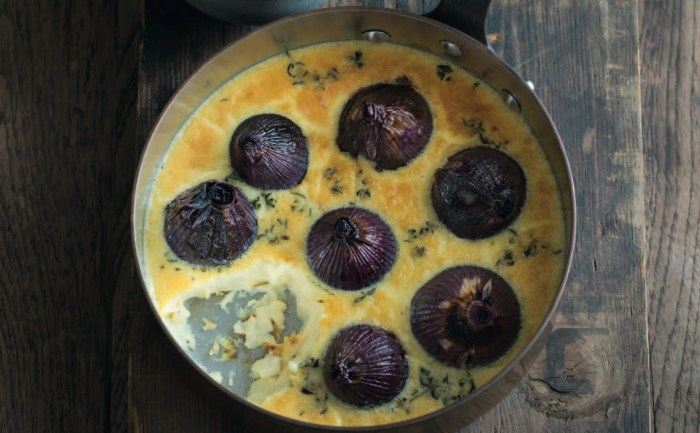 baked onions in brie custard recipe